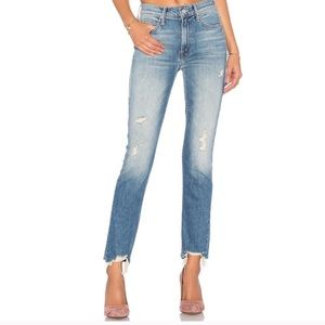 Mother The Flirt Fray Jeans Distressed Sz 26